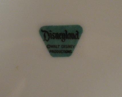 Disney Musings Vintage Disneyland Plate
