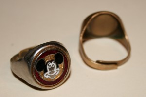 Jewellery Ring Mickey 3 +