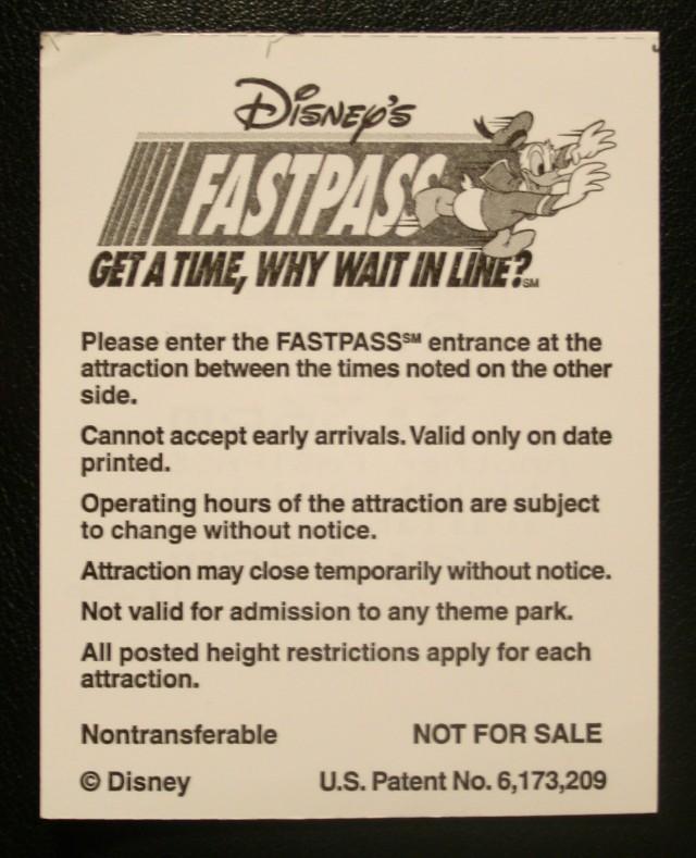 Disney FastPasses 014