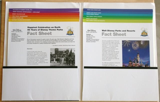 Disneyland 50th Press Kit 003