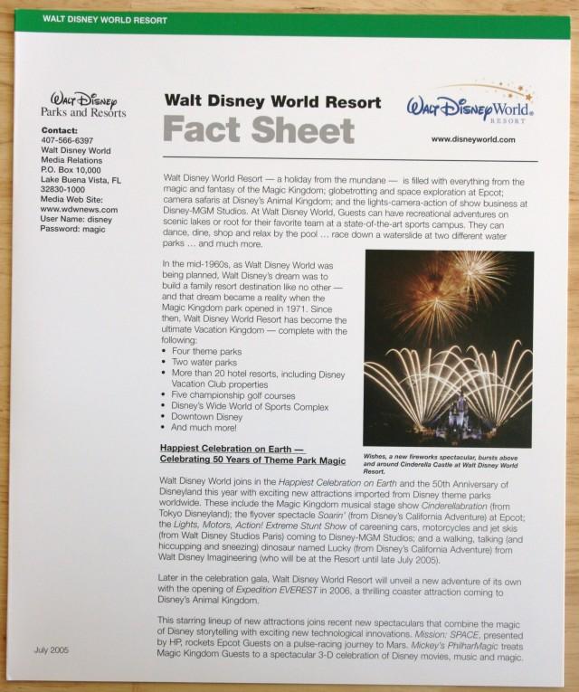 Disneyland 50th Press Kit 005