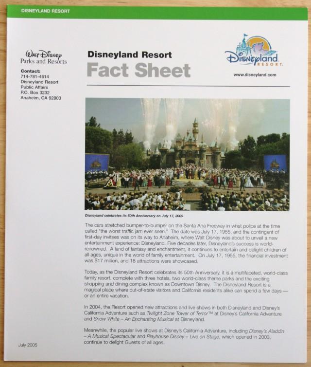 Disneyland 50th Press Kit 006
