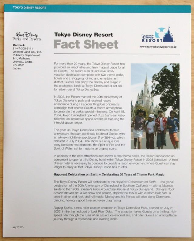 Disneyland 50th Press Kit 007