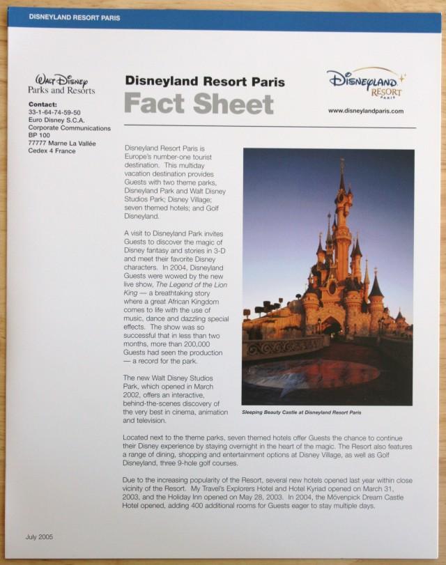 Disneyland 50th Press Kit 008
