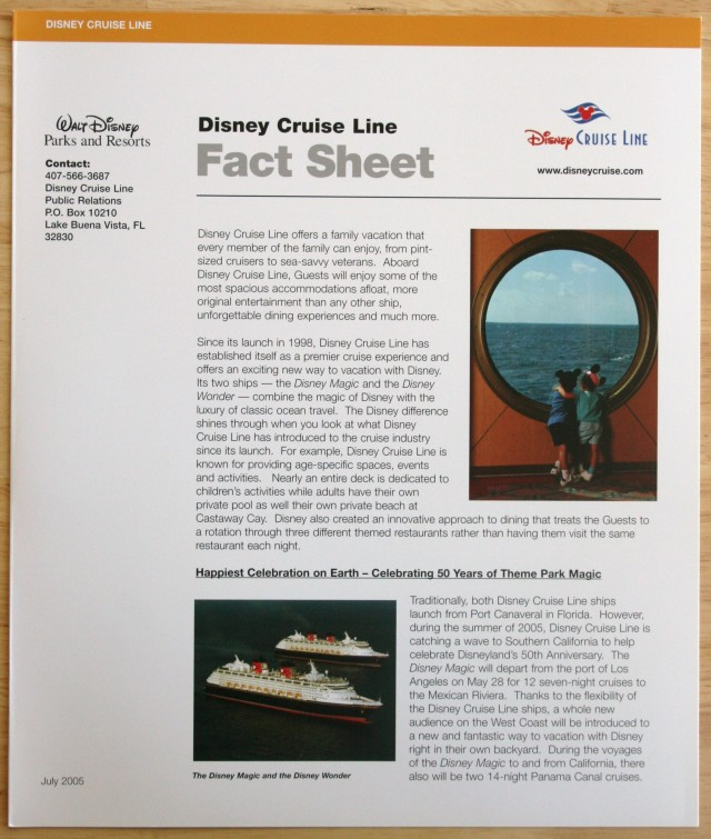 Disneyland 50th Press Kit 010