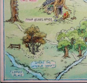 Hundred Acre Wood Map LL