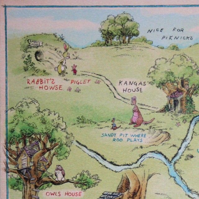 Hundred Acre Wood Map UL