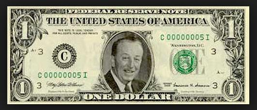Walt Disney Dollar Bill