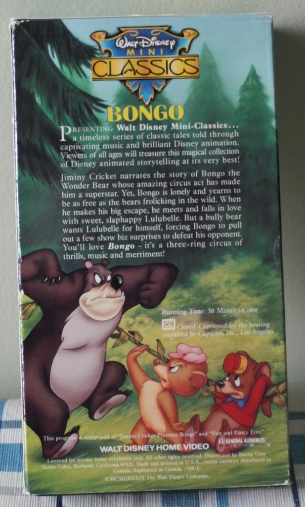 Bongo VHS Back