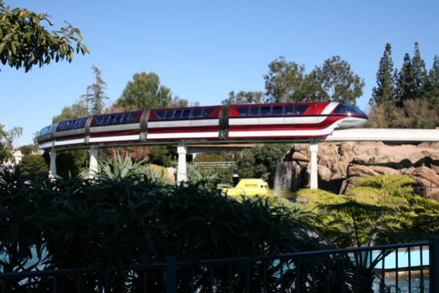 Disneyland Monorail Red