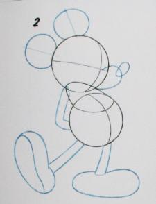 Drawing Classic Mickey Body 2