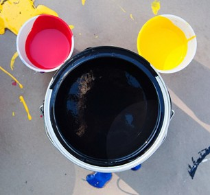 Mickey Paint Cans