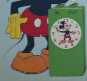 Mickey Time Clock