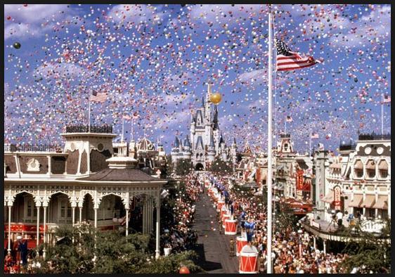 Releasing Balloons at Disney